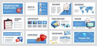Présentation Mini Banners Set d'affaires illustration stock
