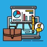 Présentation ompany de bénéfice de graphique de concept commercial de stratégie d'affaires illustration de vecteur
