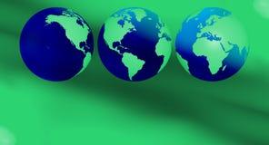 Présentation verte d'écologie de concept Image stock