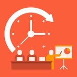 Présentations d'affaires de temps illustration de vecteur