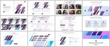 Présentations minimales, calibres de portfolio Éléments simples sur le fond blanc Conception de vecteur de couverture de brochure Images stock