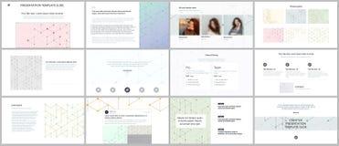 Présentations minimales, calibres de portfolio La présentation glisse pour l'insecte, brochure, rapport Modèle de schéma avec illustration libre de droits