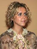 Présentatrice d'Olga Shelest TV photos libres de droits