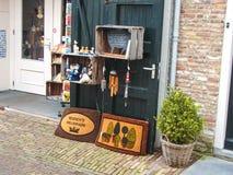 Présentez la boutique de souvenirs dans la ville néerlandaise de Heusden Photos libres de droits