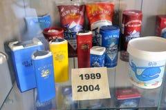 Présentez la collection d'emballage de sel de mer Images stock