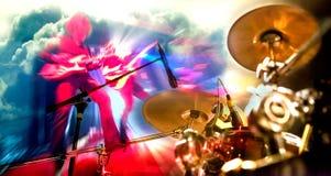 Présentez les lumières Fond de musical d'abrégé sur double exposition Jeu images libres de droits