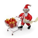 Présents d'achats de Santa illustration de vecteur