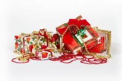 Présents de Noël et d'an neuf Photos stock