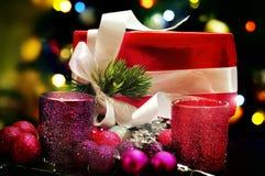 Présents de nouvelles années de Noël Photographie stock