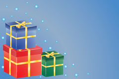 Présents pour Noël ou l'anniversaire Image stock