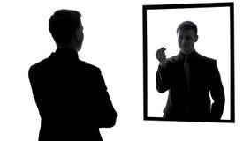 Préservatif masculin d'apparence de réflexion de miroir, préparation pour la date, responsabilité image libre de droits