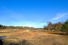 Préservation de la nature Soos près de la petite ville de Bohème occidentale Frantiskovy Lazne Franzensbad de station thermale en Photo libre de droits