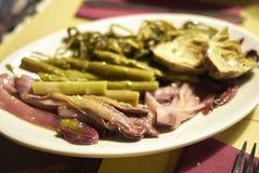 Préservation des légumes en Olive Oil images libres de droits