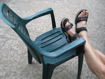 Présidence avec des pieds là-dessus images libres de droits