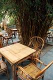 Présidence et table en bambou Image libre de droits