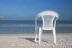 Présidence isolée à la plage photo libre de droits