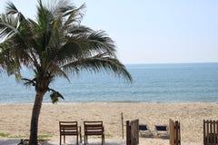 Présidence sur la plage Photos stock