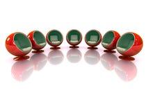 présidences 3d modernes rouges reflétées Photographie stock