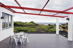 Présidences dans la terrasse Photo stock