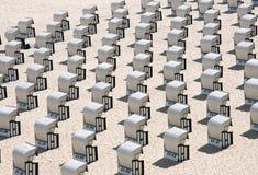 Présidences de plage à la mer baltique, Allemagne Photo stock