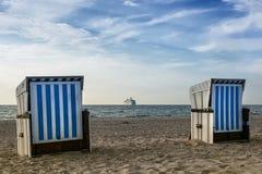 Présidences de plage Photos stock