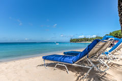 Présidences de plage des Caraïbes Photo stock