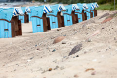 Présidences de plage en osier Images libres de droits