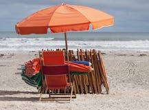 Présidences et parapluies de plage Image libre de droits