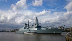 Président de HMS, marine royale Images stock