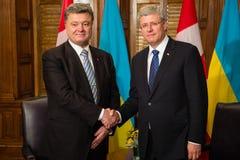 Président de l'Ukraine Petro Poroshenko à Ottawa (Canada) images libres de droits