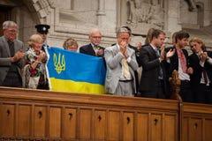 Président de l'Ukraine Petro Poroshenko à Ottawa (Canada) Photos libres de droits