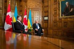 Président de l'Ukraine Petro Poroshenko à Ottawa (Canada) Image libre de droits