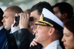 Président de l'Ukraine Petro Poroshenko pendant la célébration de Images stock