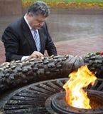 Président de l'Ukraine Petro Poroshenko pendant la célébration de Image stock
