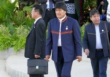 Président de la Bolivie Evo Morales Images libres de droits