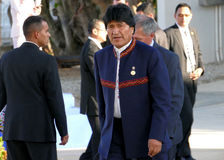 Président de la Bolivie Evo Morales Photographie stock libre de droits