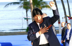 Président de la Bolivie Evo Morales Photo libre de droits