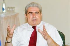Président de la Chypre Dimitris Christofias images libres de droits