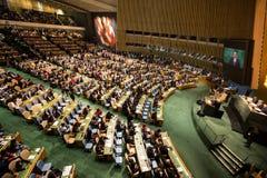 Président de la Pologne Andrzej Duda sur la soixante-dixième session de l'ONU Image stock