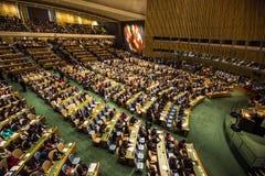 Président de la Pologne Andrzej Duda sur la soixante-dixième session de l'ONU Photographie stock