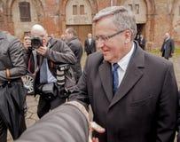 Président de la République de la Pologne Bronislaw Komorowski Image stock