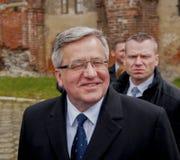 Président de la République de la Pologne Bronislaw Komorowski Image libre de droits