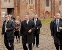 Président de la République de la Pologne Bronislaw Komorowski Images stock