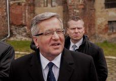 Président de la République de la Pologne Bronislaw Komorowski Images libres de droits