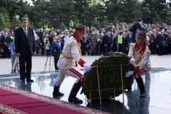 Président de la République de Moldau Mihai Ghimpu images libres de droits