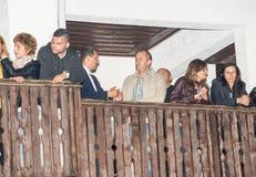 Président de rumen Radev de la Bulgarie aux jeux de Nestenar dans le village de Bulgari, Bulgarie Photos libres de droits