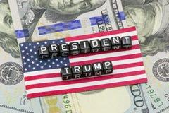 Président des USA d'atout image libre de droits