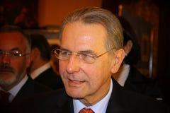Président du COI Jacques Rogge Photo stock