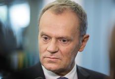 Président du Conseil européen Donald Tusk Images libres de droits