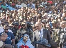 Président du Haïti dans la foule Photo stock